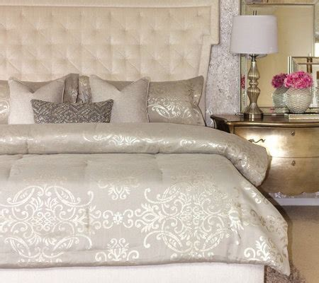 qvc home decor inspire me home decor 6 piece king comforter set page 1