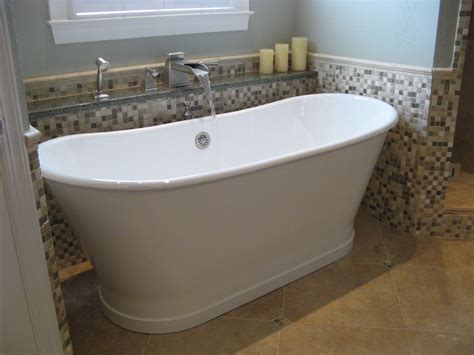 stand up bathtubs stand alone tub bathroom traditional with white and blue