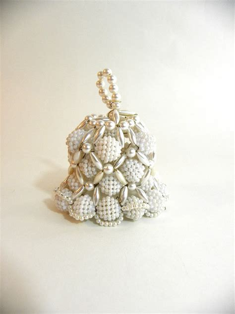 tree ornaments vintage beaded bell tree ornament