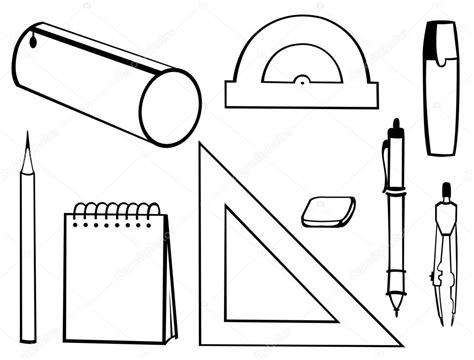 imagenes de utiles escolares infantiles para colorear material escolar vetores de stock 169 sibiryanka 13605220
