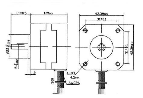 nema  stepping motor  kg cm  wire bygh