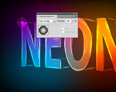 vector neon tutorial illustrator text effects how to create a neon text effect