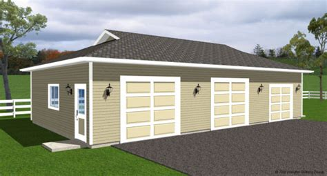 3 bay garage plans three bay garage house plan hunters