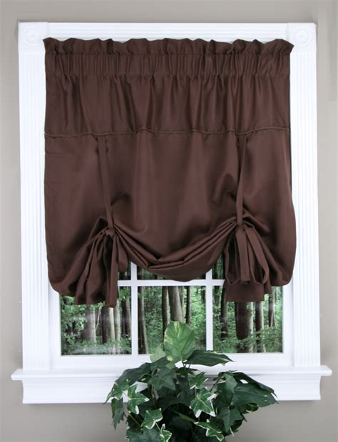 blackstone tie up curtain black united kitchen valances
