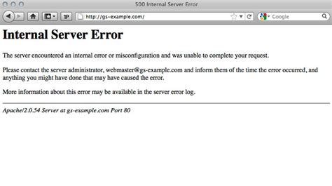 http 500 errore interno server why am i getting a 500 server error message