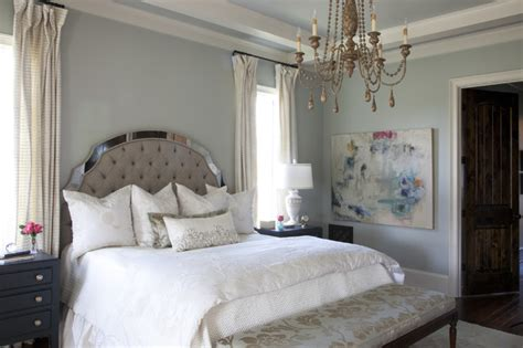 silver strand traditional master bedroom interiors  color