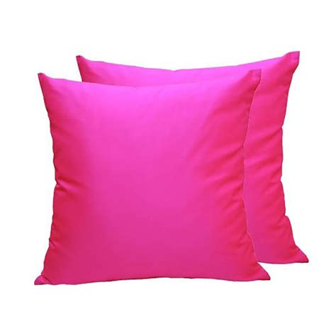 Pillow Covers by Fuchsia Thai Silk Cushion Cover From Chiang Mai Thailand