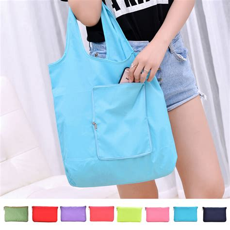 8 Fab Shopping Bags by 8 Colors Fashion Foldable Shopping Bag Reusable Grocery