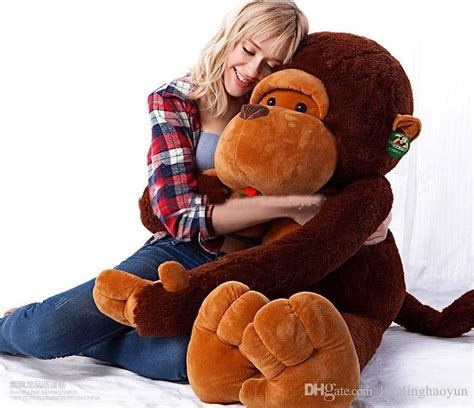 big stuffed monkey for valentines day discount 80cm stuffed monkey plush monkey monkey