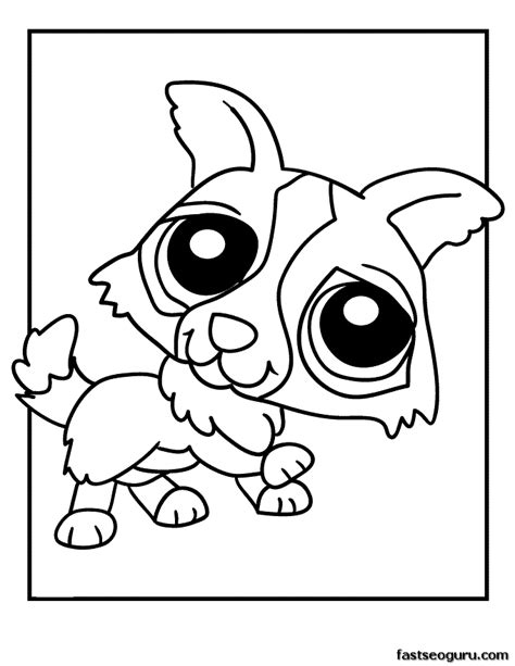 coloring pages of littlest pet shop dogs printable littlest pet shop puppy coloring pages