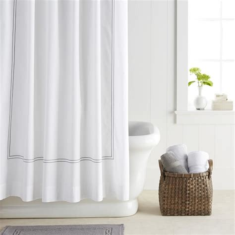 Adding Shower To Bathtub Hotel Shower Curtain Williams Sonoma