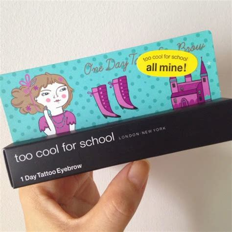 1 day tattoo eyebrow pen too cool for school eat well travel often too cool for school 1 day tattoo
