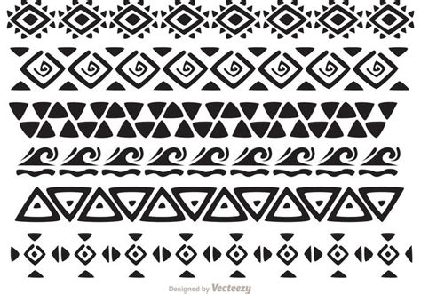 easy tribal pattern black and white hawaiian tribal pattern vectors pack 2 download free