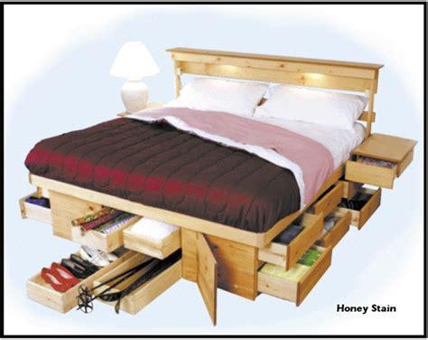 bed frames  built  storage platform bed