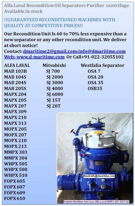 5 Below Lava L by Alfa Laval Separators Purifier Mopx 309 Tgt 14