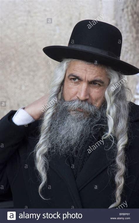 hasidic jewish men hair hasidic jew with long hair and beard dressed in hat and