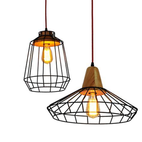 Luminaire Pendant Lighting Vintage L Lustre Pendant Lights Industrial Cage Lshade Pendant L E27 220v For Decor