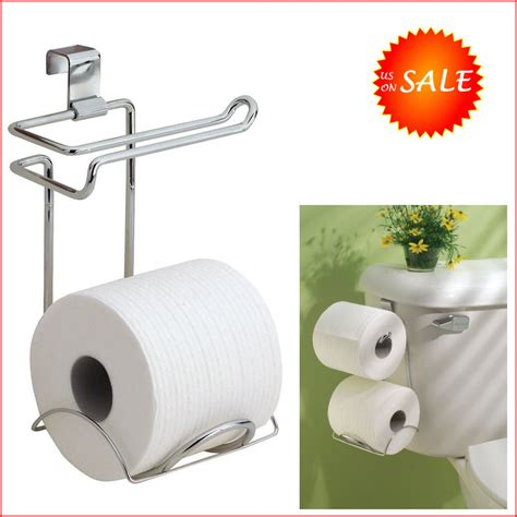 Tank Mounted Toilet Paper Tissue Roll Holder Dispenser Bathroom Toilet Paper Storage