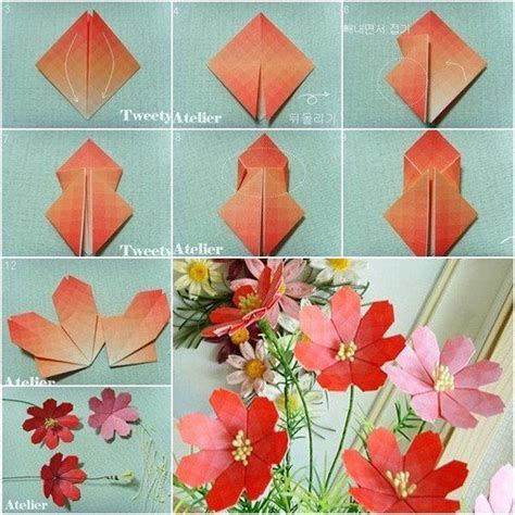 Origami Paper Flowers - 40 origami flowers you can do autumn origami flowers
