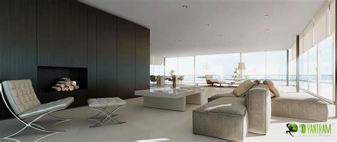 Minimal 3D Interior Living Room Design View   Yantram