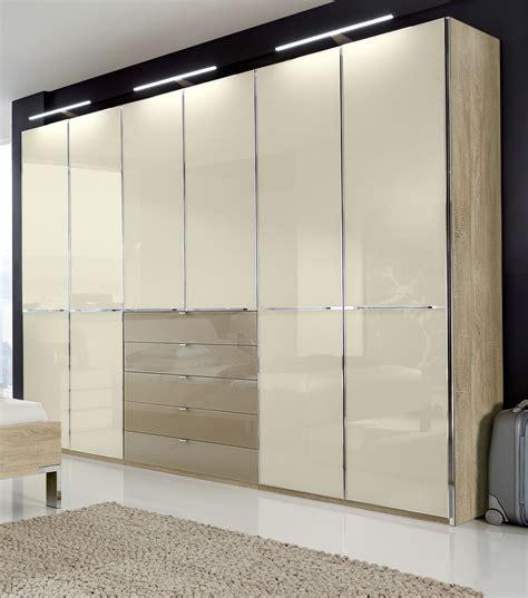 kleiderschrank mit schiebetüren moderner dreht 252 renschrank in eiche s 228 gerau dekor mit glas