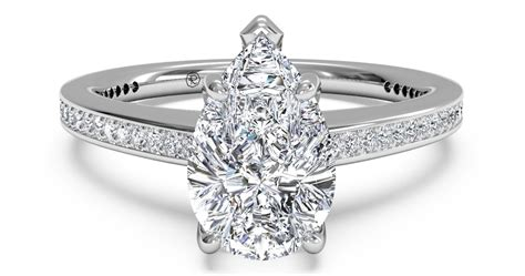 shaped wedding rings with diamonds five pear shaped engagement rings ritani