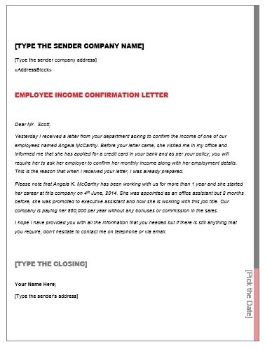 Employment Verification Letter For Home Loan sle letter of employment for bank loan how to write a