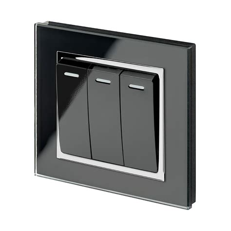 Three Light Switches by Ct 3 Rocker Light Switch Black Retrotouch