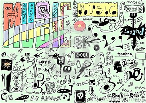 doodle less pool musicas doodles background royalty free stock image