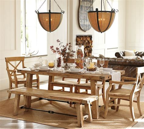 pottery barn bench table i love orla kiely dining chairs the look for less