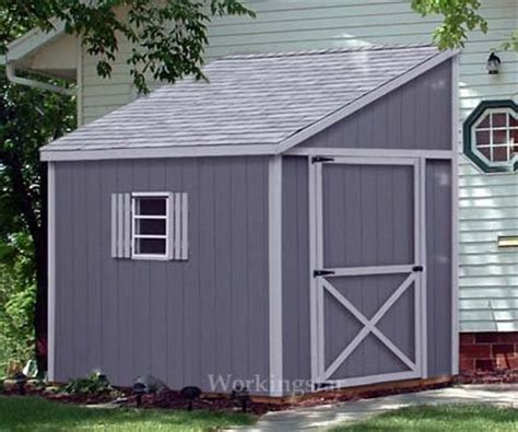 6x10 Lean To Shed 6 X 10 Lean To Roof Storage Shed Blue Prints Project