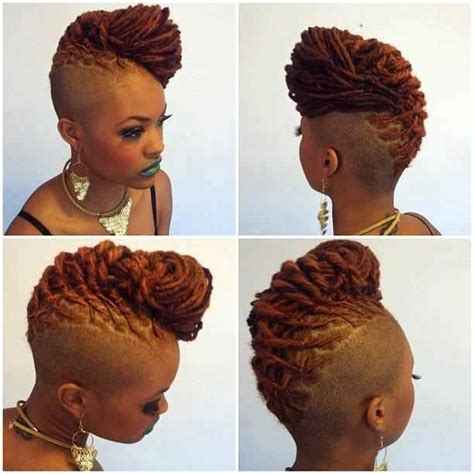 hairstyles after cutting off dreadlocks dreadlock mohawk hairstyle for women locs shaved sides