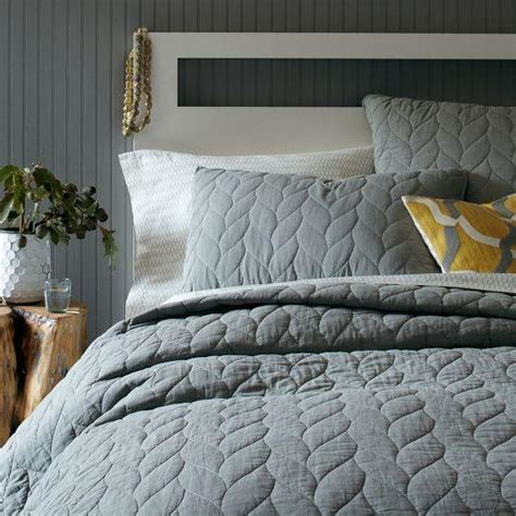 west elm bedding braided quilt shams west elm