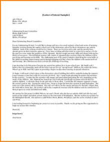 Letter Of Intent Psychology Exle 5 Letter Of Intent Graduate School Resumed