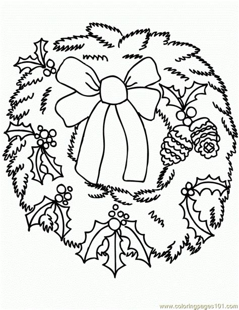 wreath bow coloring page printable wreath bow search results calendar 2015