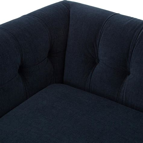 navy blue tufted sofa dorian regency navy velvet tufted sofa kathy