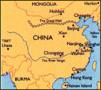 Great Wall Of China Map Outline by China Map With Great Wall
