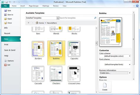 free templates for publisher microsoft publisher