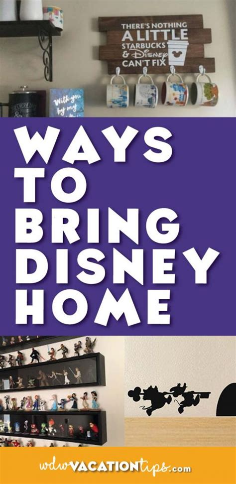 small ways to add disney to your home wdw vacation tips