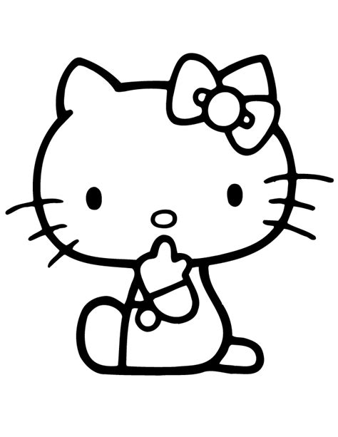 hello kitty large coloring pages hello kitty be quiet coloring page h m coloring pages