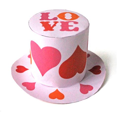 is a splendid thing mini st valentines day hat template
