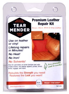 how to repair a vinyl couch tear bish leather tear mender kit tm p lrk
