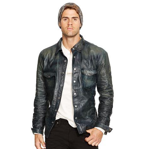 Cc034 Size M Black Blazer Formal Luaran Outerwear Fashion Wanita lyst polo ralph leather western jacket in blue for