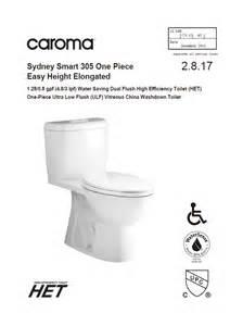 caroma sydney smart 305 1 easy height ada elongated dual flush toilets