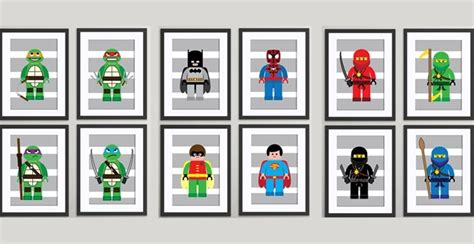 printable lego wall art 4 new themes lego inspired children s wall art prints