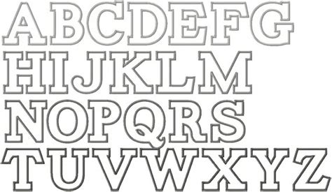 block letter fonts items similar to alphabet applique embroidery font instant 1093
