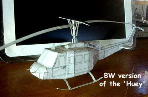 How To Make A Paper Army Helicopter - bell uh 1 huey aircraft