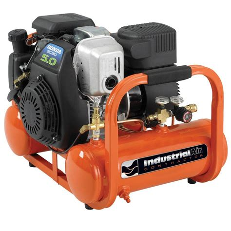 industrial air 4 gal portable pontoon air compressor with 5 hp honda gas engine cta5090412