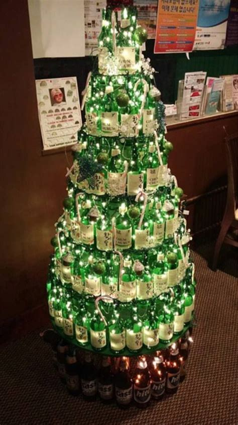 rum bottle xmas tree tree with bottles of korean korean food trees