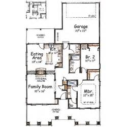 House Plan 1761 Square Feet 57 Ft by Mediterranean Style House Plan 2 Beds 2 Baths 1343 Sq Ft
